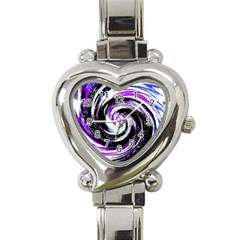 Canvas Acrylic Digital Design Heart Italian Charm Watch
