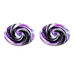 Canvas Acrylic Digital Design Cufflinks (Oval)