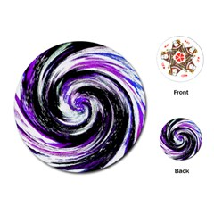 Canvas Acrylic Digital Design Playing Cards (round)