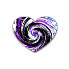 Canvas Acrylic Digital Design Rubber Coaster (Heart)