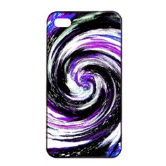 Canvas Acrylic Digital Design Apple Iphone 4/4s Seamless Case (black)