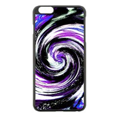 Canvas Acrylic Digital Design Apple iPhone 6 Plus/6S Plus Black Enamel Case