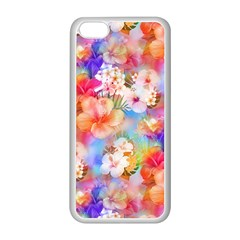 Tropical Hawaiian Garden  Apple iPhone 5C Seamless Case (White)