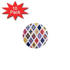 Plaid Triangle Sign Color Rainbow 1  Mini Magnet (10 pack)