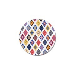 Plaid Triangle Sign Color Rainbow Golf Ball Marker