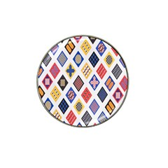 Plaid Triangle Sign Color Rainbow Hat Clip Ball Marker (4 pack)