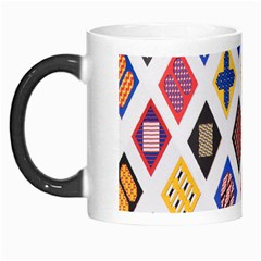 Plaid Triangle Sign Color Rainbow Morph Mugs
