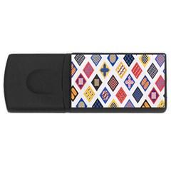 Plaid Triangle Sign Color Rainbow Usb Flash Drive Rectangular (4 Gb)