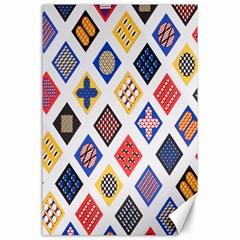 Plaid Triangle Sign Color Rainbow Canvas 24  x 36