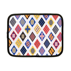 Plaid Triangle Sign Color Rainbow Netbook Case (Small)