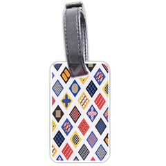 Plaid Triangle Sign Color Rainbow Luggage Tags (Two Sides)