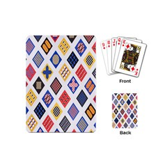 Plaid Triangle Sign Color Rainbow Playing Cards (Mini)