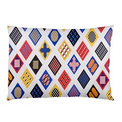 Plaid Triangle Sign Color Rainbow Pillow Case (Two Sides)
