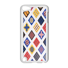 Plaid Triangle Sign Color Rainbow Apple iPod Touch 5 Case (White)