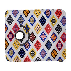 Plaid Triangle Sign Color Rainbow Galaxy S3 (Flip/Folio)