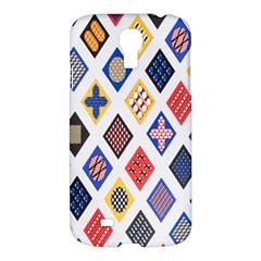Plaid Triangle Sign Color Rainbow Samsung Galaxy S4 I9500/I9505 Hardshell Case