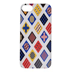 Plaid Triangle Sign Color Rainbow Apple iPhone 5S/ SE Hardshell Case