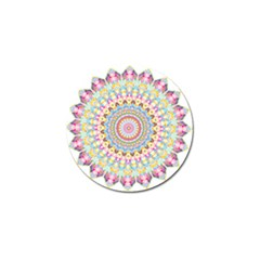 Kaleidoscope Star Love Flower Color Rainbow Golf Ball Marker (4 pack)