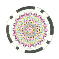 Kaleidoscope Star Love Flower Color Rainbow Poker Chip Card Guard
