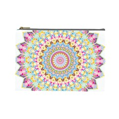 Kaleidoscope Star Love Flower Color Rainbow Cosmetic Bag (Large)