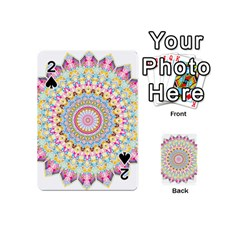 Kaleidoscope Star Love Flower Color Rainbow Playing Cards 54 (Mini)