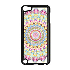 Kaleidoscope Star Love Flower Color Rainbow Apple iPod Touch 5 Case (Black)
