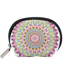 Kaleidoscope Star Love Flower Color Rainbow Accessory Pouches (Small)