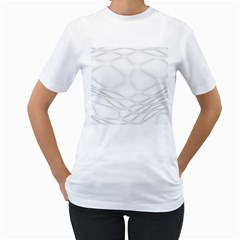 Line Stone Grey Circle Women s T Shirt (white) (two Sided)