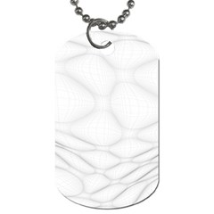 Line Stone Grey Circle Dog Tag (Two Sides)
