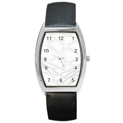 Line Stone Grey Circle Barrel Style Metal Watch