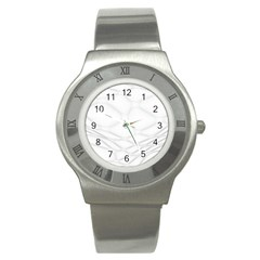 Line Stone Grey Circle Stainless Steel Watch