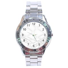 Line Stone Grey Circle Stainless Steel Analogue Watch