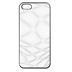 Line Stone Grey Circle Apple iPhone 5 Seamless Case (Black)
