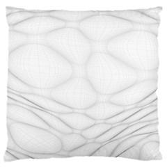 Line Stone Grey Circle Large Flano Cushion Case (One Side)