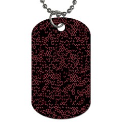 Random Pink Black Red Dog Tag (Two Sides)