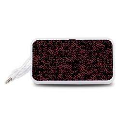 Random Pink Black Red Portable Speaker (White)
