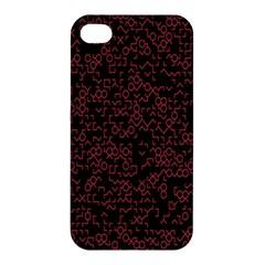 Random Pink Black Red Apple iPhone 4/4S Premium Hardshell Case