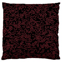 Random Pink Black Red Large Flano Cushion Case (Two Sides)
