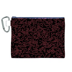 Random Pink Black Red Canvas Cosmetic Bag (XL)