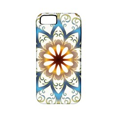Prismatic Flower Floral Star Gold Green Purple Orange Apple iPhone 5 Classic Hardshell Case (PC+Silicone)