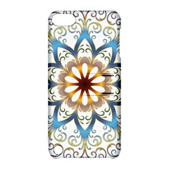 Prismatic Flower Floral Star Gold Green Purple Orange Apple iPod Touch 5 Hardshell Case with Stand