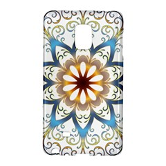 Prismatic Flower Floral Star Gold Green Purple Orange Galaxy Note Edge