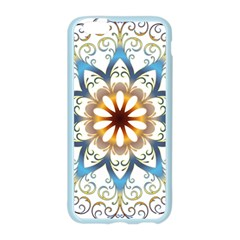 Prismatic Flower Floral Star Gold Green Purple Orange Apple Seamless iPhone 6/6S Case (Color)