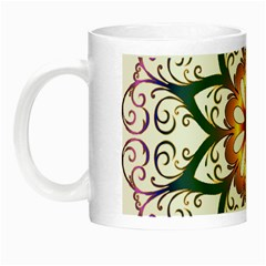 Prismatic Flower Floral Star Gold Green Purple Night Luminous Mugs