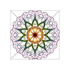 Prismatic Flower Floral Star Gold Green Purple Acrylic Tangram Puzzle (4  x 4 )