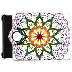 Prismatic Flower Floral Star Gold Green Purple Kindle Fire HD 7