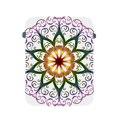 Prismatic Flower Floral Star Gold Green Purple Apple Ipad 2/3/4 Protective Soft Cases