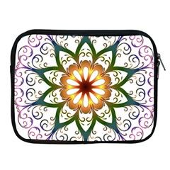 Prismatic Flower Floral Star Gold Green Purple Apple iPad 2/3/4 Zipper Cases