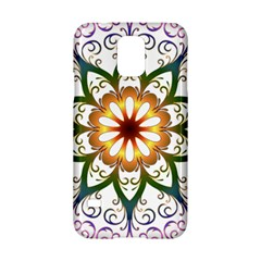 Prismatic Flower Floral Star Gold Green Purple Samsung Galaxy S5 Hardshell Case