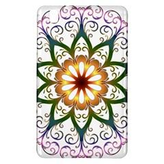 Prismatic Flower Floral Star Gold Green Purple Samsung Galaxy Tab Pro 8.4 Hardshell Case